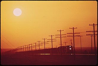 California Air Resources Board - Sunlight filtered through smog near Blythe, May 1972