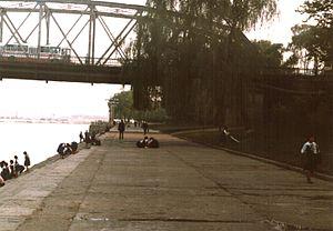 Taedong Bridge - Under the bridge 1988