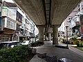 Taipei-metro-xinbeitou-line-under-overpass.jpg