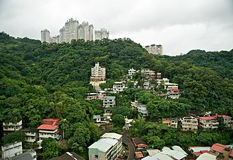 Xindian District - Residential buildings on a hillside.