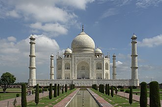 Mughal architecture - The Taj Mahal at Agra, India is the most famous example of Mughal Architecture.