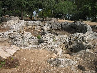 Israeli wine - Ruins of an ancient Israeli wine press dating to the Talmudic period (100–400 CE)