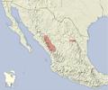 Tamias durangae distribution map.png