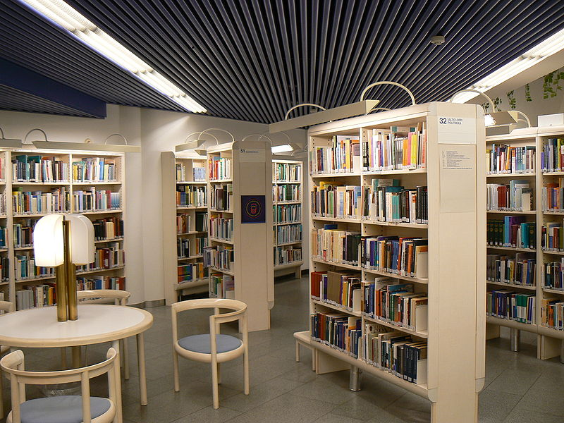 File:Tampere library shelves.jpg