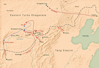 Li Jing (Tang dynasty) - Tang dynasty's campaign against the Eastern Turks in 630 under Li Jing's command