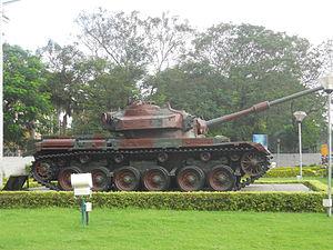 Officers Training Academy - Centurion tank at the gate of OTA Chennai