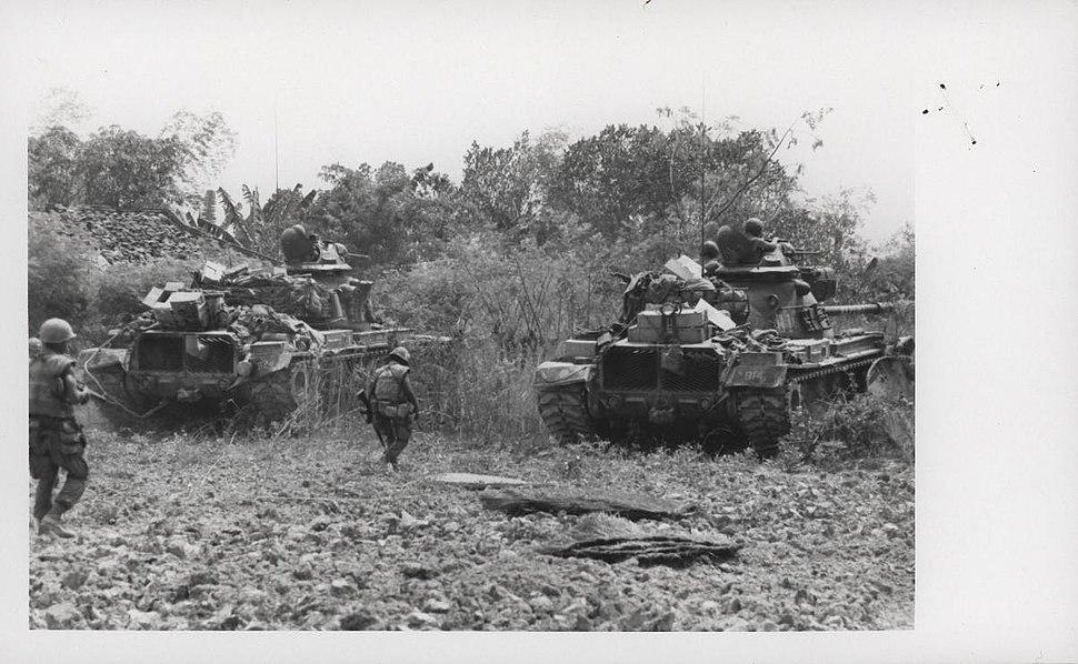 Tanks Sweep Go Noi Island, May 1968 (21542127404)