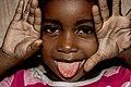 Tanzanian child face play Imitation by Rasheedhrasheed.jpg