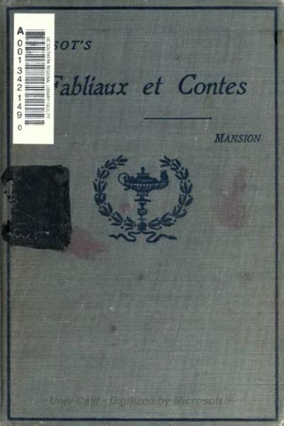 File:Tarsot - Fabliaux et Contes du Moyen Âge 1913.djvu