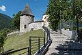 Tarvisio Piazza Unitá Kirchen-Kastell oestl Wehrturm 26062015 5463.jpg