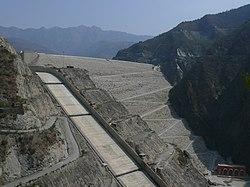 Tehri Dam on the Bhagirathi, Garhwal, India.jpg