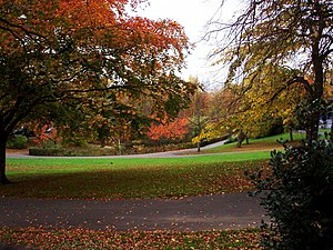 Parks and open spaces in the London Borough of Lewisham - The lower end of Telegraph Hill Park