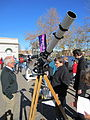 Telescope set up by the Wagga Wagga Observatory at the Civic Centre for the transit of Venus.jpg