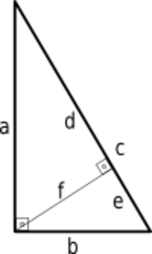 Right triangle - Altitude of a right triangle