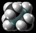 Tetramethylsilane molecule spacefill from xtal.png