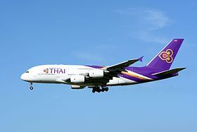 Thai Airways Airbus A380-800 HS-TUD NRT (16025787690).jpg