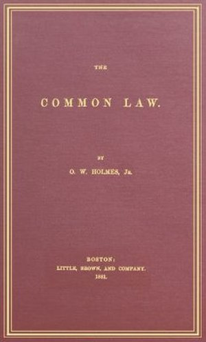 The Common Law (Holmes) - Cover of the first edition of The Common Law.