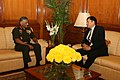 The Ambassador of Vietnam, Mr. Nguyen Thanh Tan called on the Chief of Army Staff, Gen. V.K. Singh, in New Delhi on November 25, 2010.jpg