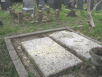 Robert Armstrong-Jones - The grave of Robert Armstrong-Jones and his wife Margaret is on the left. On the right is Ronald Armstrong-Jones's grave.