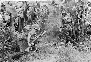 Jungle warfare - British troops in Burma, 1944