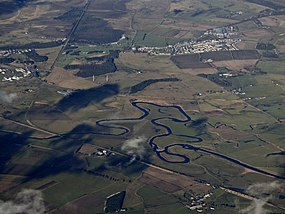 The Carstairs meanders from the air (geograph 5679291).jpg