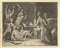 The Cat, Caught in a Snare, is Mistreated by the People from the House from Hendrick van Alcmar's Renard The Fox MET DP837703.jpg