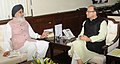 The Chief Minister of Punjab, Shri Parkash Singh Badal meeting the Union Minister for Finance, Corporate Affairs and Information & Broadcasting, Shri Arun Jaitley, in New Delhi on August 26, 2015.jpg