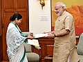 The Chief Minister of West Bengal, Ms. Mamata Banerjee calling on the Prime Minister, Shri Narendra Modi, in New Delhi on August 12, 2015.jpg