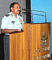 "The Chief of the Air Staff, Air Chief Marshal Arup Raha addresses the Air Veterans during the seminar on "" Role on IAF in 1965 India-Pakistan war"", in New Delhi on September 05, 2014.jpg"