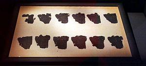 Derveni papyrus - The Derveni papyrus - Archaeological museum of Thessaloniki