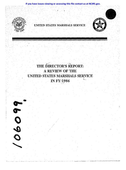 File:The Director's Report - A Review of the United States Marshals Service in FY 1986.pdf