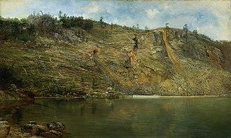 Homer Dodge Martin - Image: The Iron Mine Homer Dodge Martin Smithsonian American Art Museum