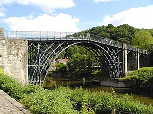 Shropshire - The Iron Bridge at Ironbridge.