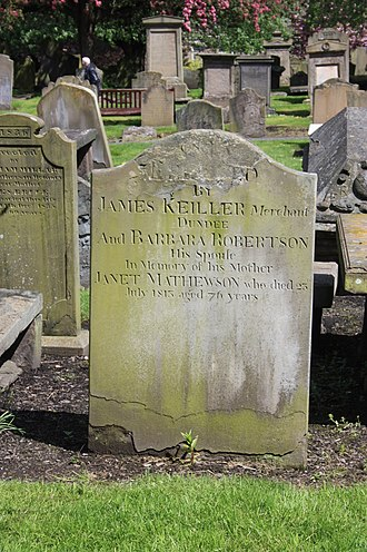Keiller's marmalade - The Keiller grave, the Howff Cemetery, Dundee