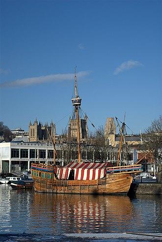 Matthew (ship) - Matthew replica moored in Bristol