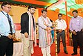 The Minister of State for Petroleum and Natural Gas (Independent Charge), Shri Dharmendra Pradhan lighting the lamp to inaugurate the DigiDhan Mela, at Puri, Odisha.jpg