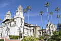 The Palm trees of Hearst Castle in San Simeon, California.jpg