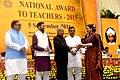 The President, Shri Pranab Mukherjee presenting the National Award for Teachers-2015 to Dr. Indu Singh (Haryana), on the occasion of the 'Teachers Day', in New Delhi.jpg
