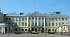 President of Finland - The Presidential Palace, Helsinki  is the official state residence of the president