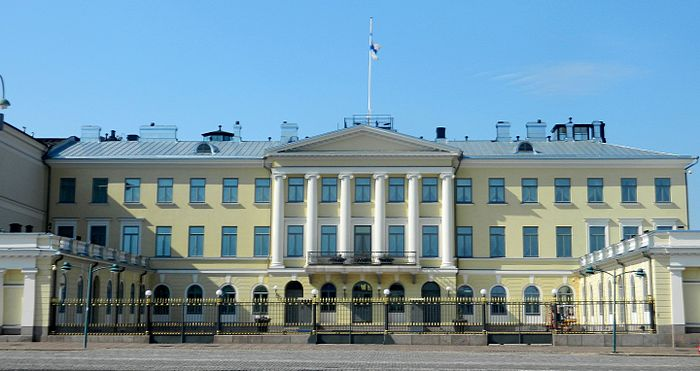 The Presidential Palace, Helsinki is the official state residence of the president The Presidential Palace, Helsinki, Finland 05.jpg