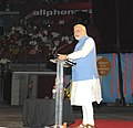 The Prime Minister, Shri Narendra Modi addressing the gathering in the Community Reception, at Allphones Arena, in Sydney, Australia on November 17, 2014 (3).jpg