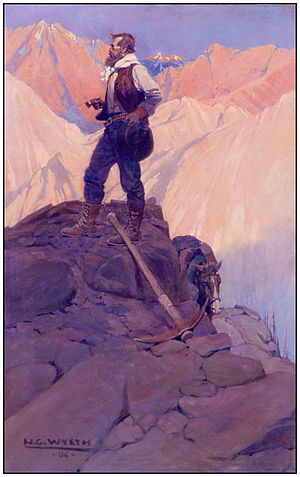 Mining engineering - The Prospector by N. C. Wyeth, 1906