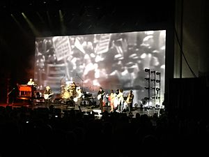 """People Got to Be Free - The Rascals performed """"People Got to Be Free"""" during their 2013 Once Upon a Dream show, with footage of 1960s civil rights marches displayed on the video screen behind them."""