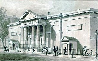 Russell Institution - The Russell Institution building, Great Coram Street, 1827