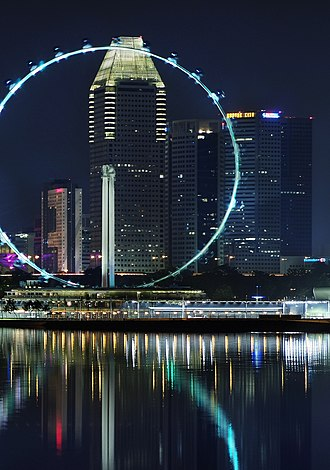 DMX512 - The Singapore Flyer uses wireless DMX to control the lighting on the pods and rim.