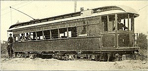 Ann Arbor and Ypsilanti Street Railway - An Ann Arbor and Ypsilanti train in the 1890s