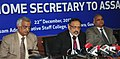 The Union Home Secretary, Shri Rajiv Gauba addressing a press conference after attending the meeting of NRC Update in Assam, at Guwahati on December 22, 2017.jpg