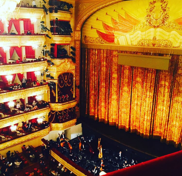 The curtain of the Bolshoi Theater