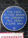 The first flying bomb on London fell here 13 June 1944.jpg