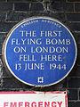 The first flying bomb on London fell here 13 June 1944.jpg